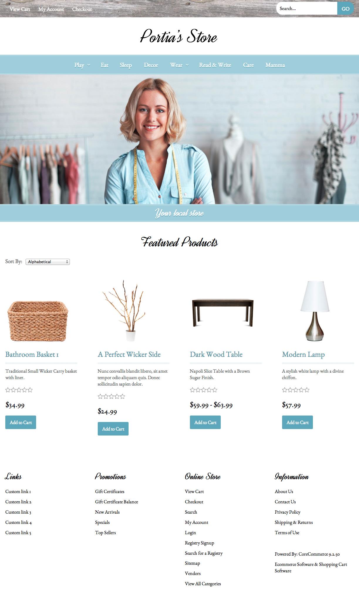 CoreCommerce Portia Theme