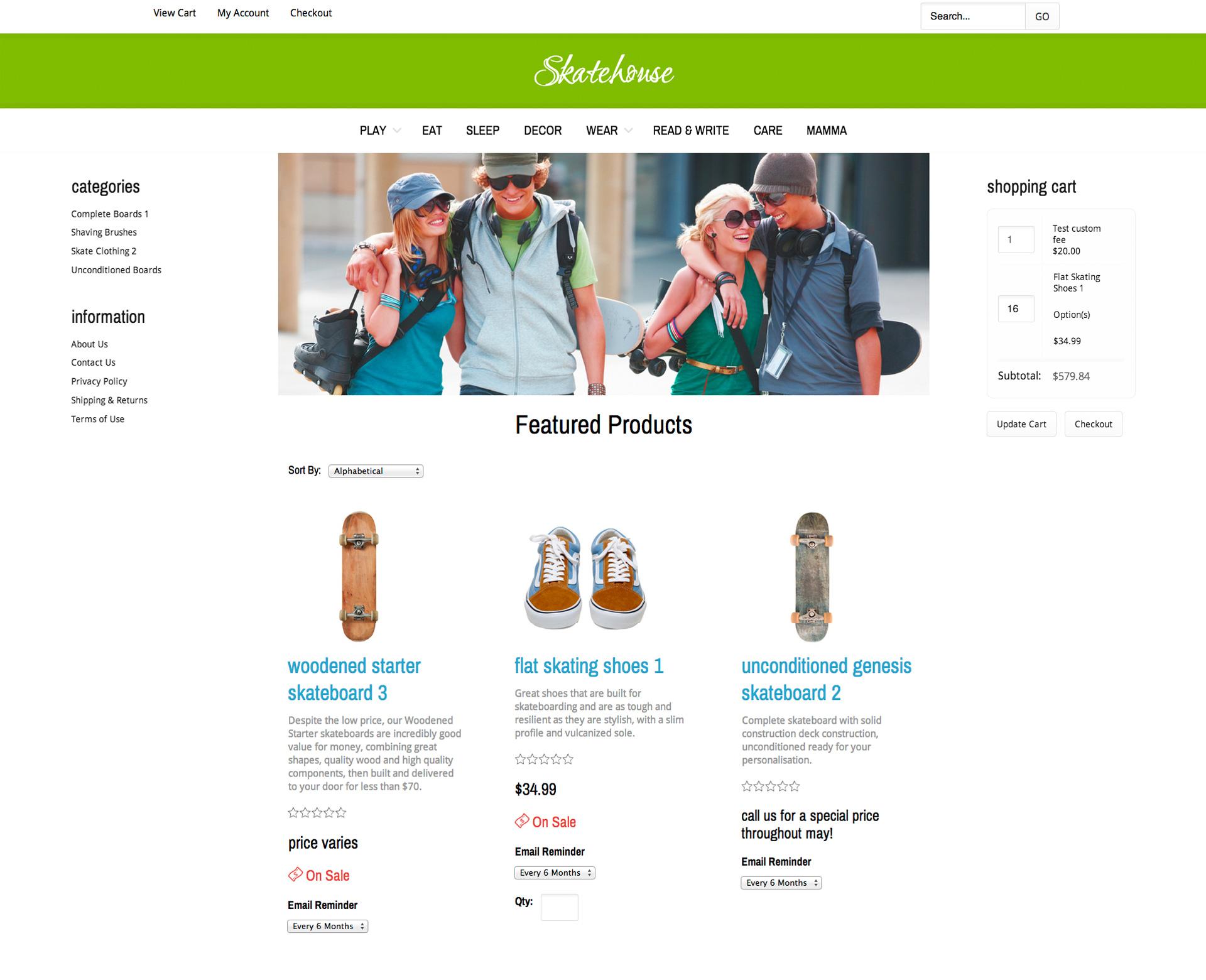 CoreCommerce Skatehouse Theme