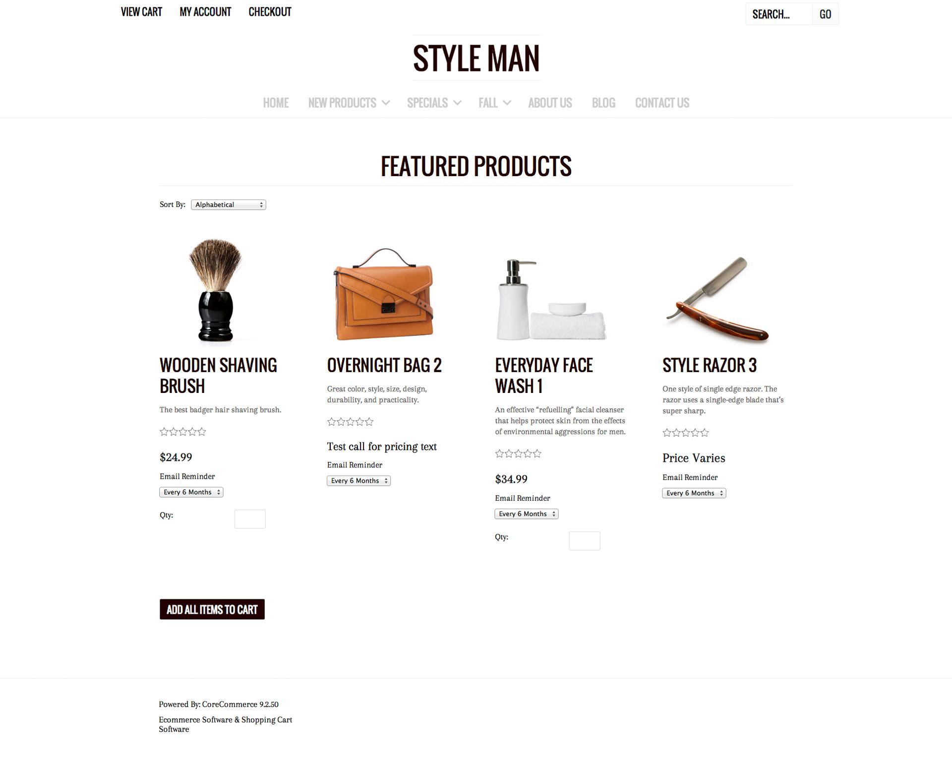 CoreCommerce Style Man Theme